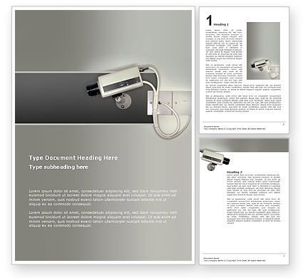 Security Camera Word Template, 02776, Technology, Science & Computers — PoweredTemplate.com