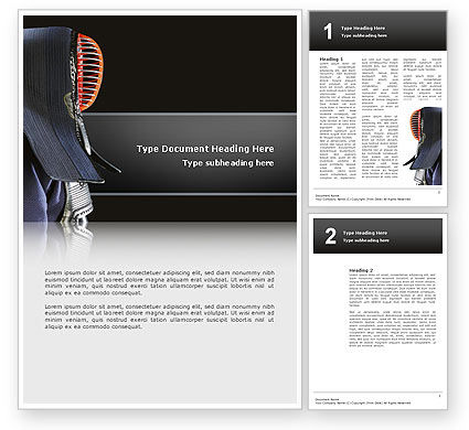 Kendo Word Template, 02779, Sports — PoweredTemplate.com