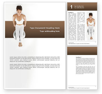 People: Fitness With Gymnastic Ball Word Template #02783