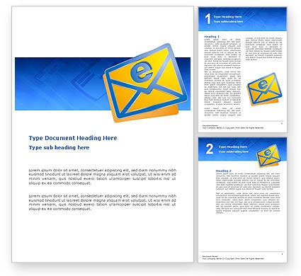 Telecommunication: E-mail Word Template #02793