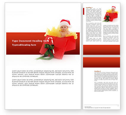 Christmas Gift Word Template, 02795, Holiday/Special Occasion — PoweredTemplate.com