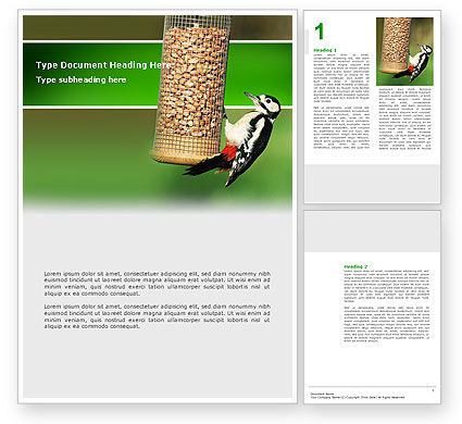 Birdfeeder Word Template, 02796, Nature & Environment — PoweredTemplate.com