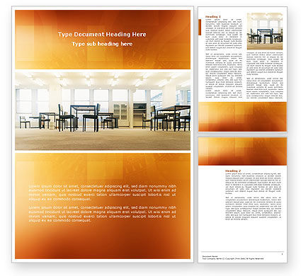 Construction: Office Canteen Word Template #02798