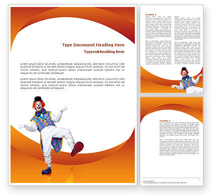 Clown Word Template, 02801, Holiday/Special Occasion — PoweredTemplate.com