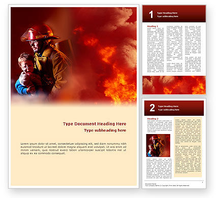 Fire Alarm Word Template, 02804, People — PoweredTemplate.com