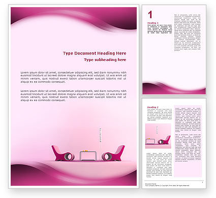 Modern Interior Design Word Template 02808 – Free Word Design Templates