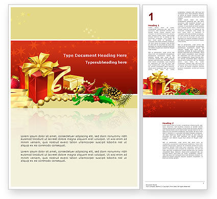 Holiday/Special Occasion: Holiday Season Word Template #02813