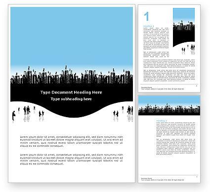 City Word Template, 02814, Business — PoweredTemplate.com