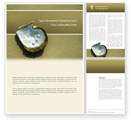 Nature & Environment: Pearls and Shell Word Template #02817