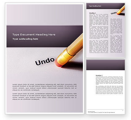 Business Concepts: Undo Word Template #02820