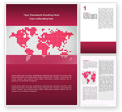 Global: Crimson World Word Template #02828