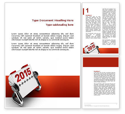 Throw-Over for 2015 Word Template, 02834, Business Concepts — PoweredTemplate.com