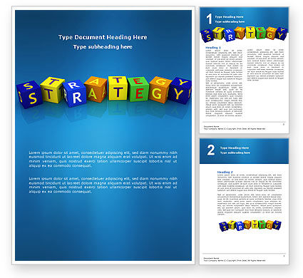 Business Strategy Education Word Template 02836 Poweredtemplate