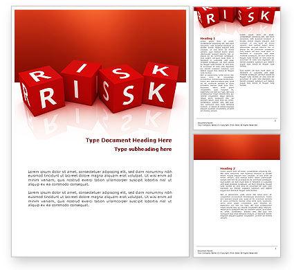 3D: Templat Word Red Risk Cubes #02837