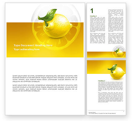 Agriculture and Animals: Yellow Lemon Word Template #02841