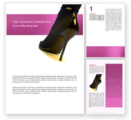 Shoes Word Template, 02842, Careers/Industry — PoweredTemplate.com
