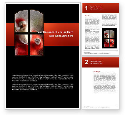 Holiday/Special Occasion: Santa Claus Coming Word Template #02845