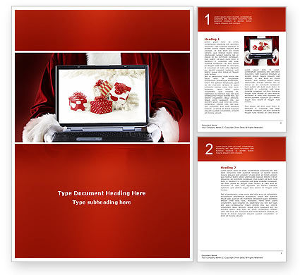 Holiday/Special Occasion: Christmas Presents Online Word Template #02852