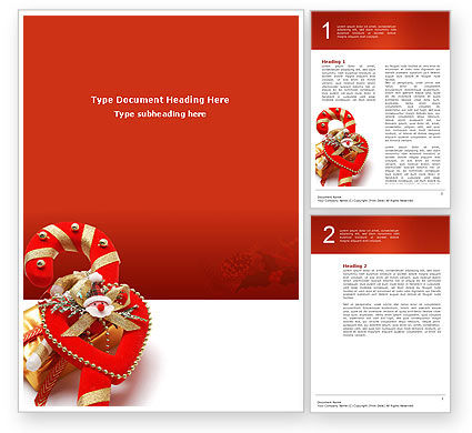 Holiday/Special Occasion: Christmas Candies Word Template #02854