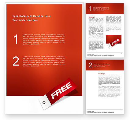Business Concepts: Label Free Word Template #02865
