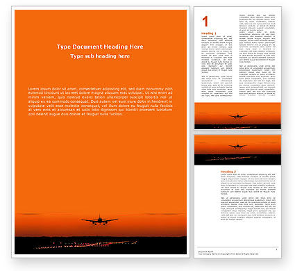 Cars/Transportation: Landing Strip Word Template #02871