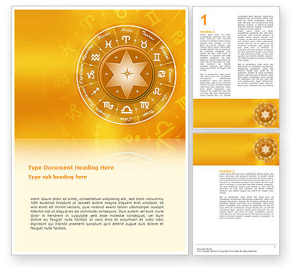 Zodiac Word Template, 02874, Religious/Spiritual — PoweredTemplate.com