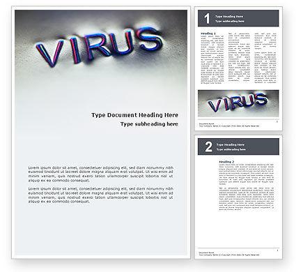 Virus Sign Word Template, 02875, Medical — PoweredTemplate.com