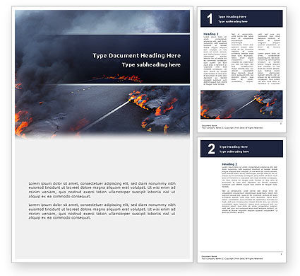 Nature & Environment: Disaster Word Template #02882