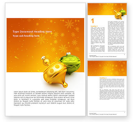 Decorations Of New Year Word Template, 02886, Holiday/Special Occasion — PoweredTemplate.com