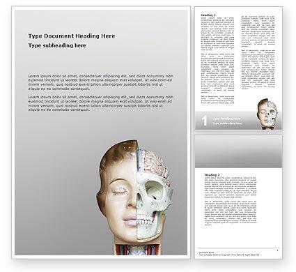 Skull As Anatomy Tutorial Word Template, 02889, Medical — PoweredTemplate.com