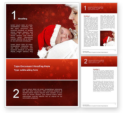 Free Christmas Child Word Template, 02890, People — PoweredTemplate.com