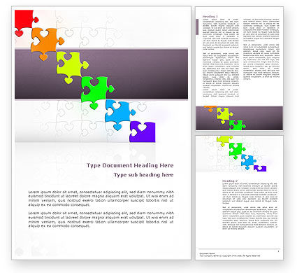 Fancy Jigsaw Word Template, 02895, Business Concepts — PoweredTemplate.com