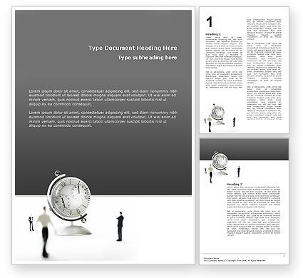 World Time Word Template, 02898, Business Concepts — PoweredTemplate.com