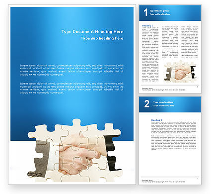 Business: Partnership Word Template #02899