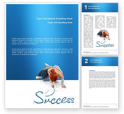 Women's Success Word Template, 02900, Consulting — PoweredTemplate.com