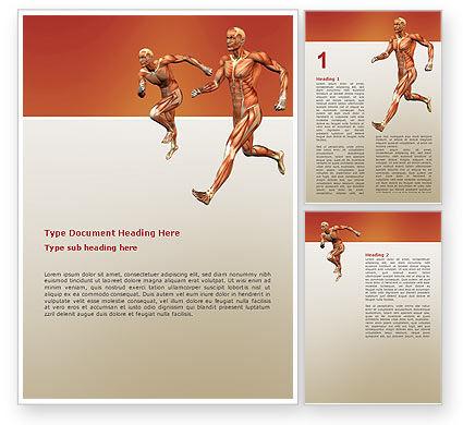Muscular System Word Template, 02911, Medical — PoweredTemplate.com