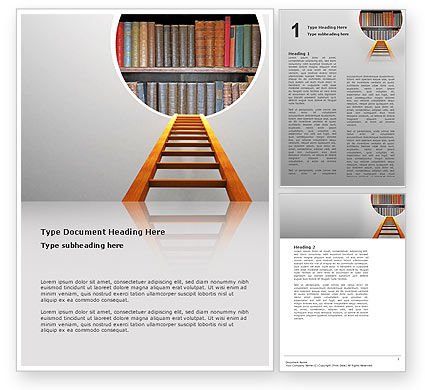 Road to Knowledge Word Template, 02917, Education & Training — PoweredTemplate.com