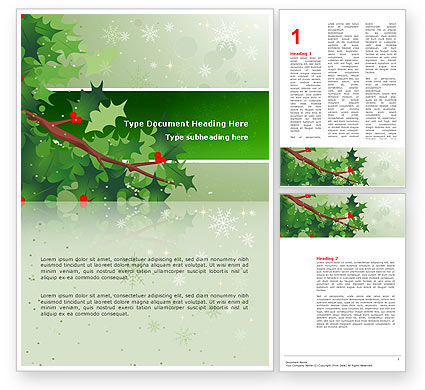Holiday/Special Occasion: Hemlock Word Template #02919