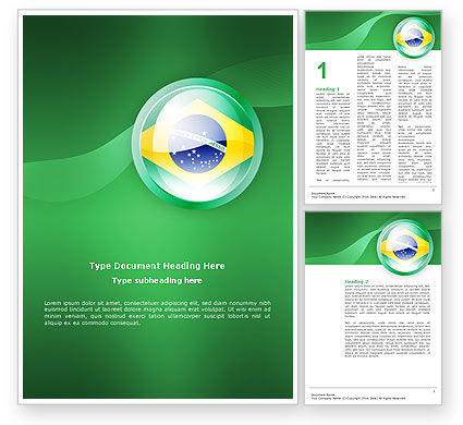 Brazil Sign Word Template, 02926, Flags/International — PoweredTemplate.com