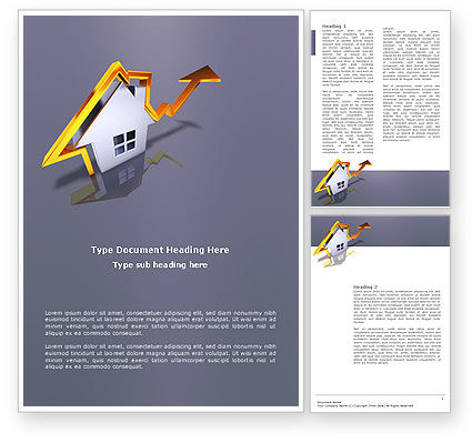 Real Estate Rate Word Template, 02929, Careers/Industry — PoweredTemplate.com