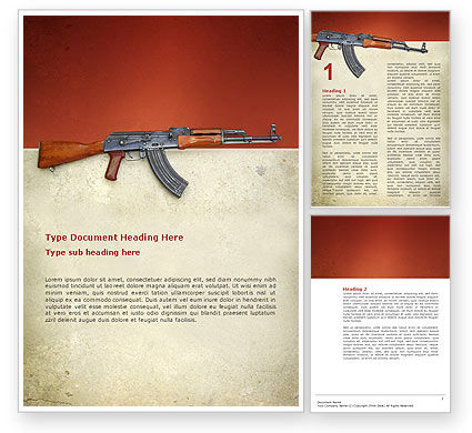 Kalashnikov Word Template, 02934, Military — PoweredTemplate.com