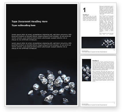 Careers/Industry: Diamonds Word Template #02938