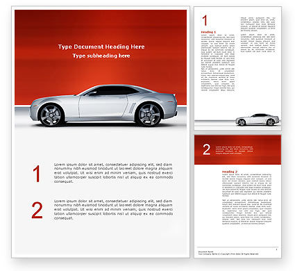 Supercar Word Template, 02939, Cars/Transportation — PoweredTemplate.com