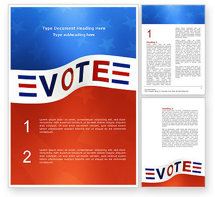 Vote Word Template, 02942, Consulting — PoweredTemplate.com