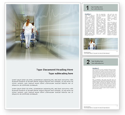 Resuscitation Department Word Template, 02944, Medical — PoweredTemplate.com