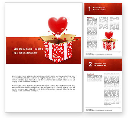 Holiday/Special Occasion: Free Love Present Word Template #02950
