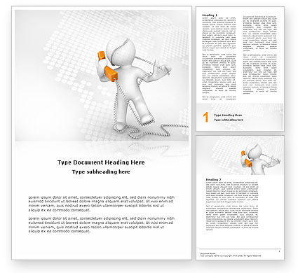 Telecommunication: Orange Telephone Word Template #02951