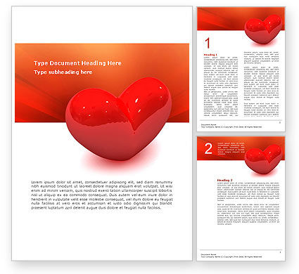 Holiday/Special Occasion: Brightly Sparkling Heart Word Template #02959
