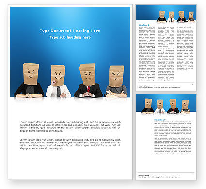 Consulting: Social Mask Word Template #02960