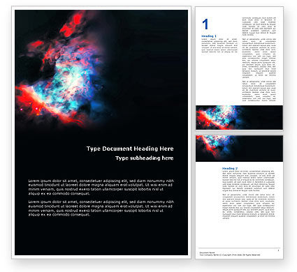 Education & Training: Orion Nebula Word Template #02961